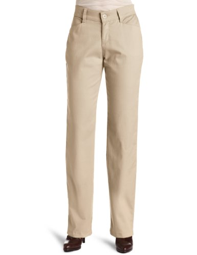 Lee Womens Relaxed Fit Plain Front Straight Leg Pant British Khaki 14 Long
