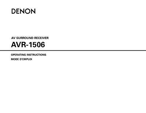 denon-avr-1506-av-receiver-owners-manual-plastic-comb-jan-01-1900-misc