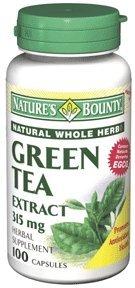 Extrait de thé vert avec EGCG, Capsules 315mg, par Bounty natures - 100 Capsules