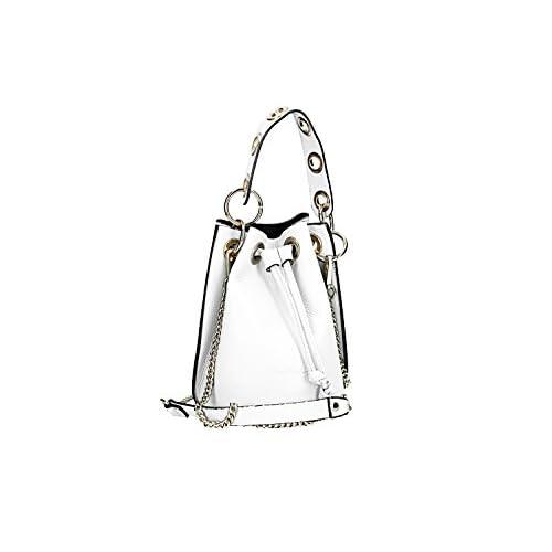 33a89784995 60% de descuento Bolsa mujer de hombro PIERRE CARDIN blanco en real cuero  Made in