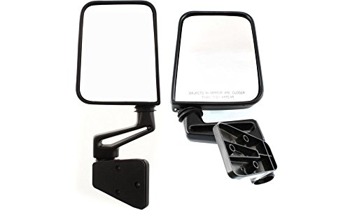 Kool Vue Set of 2 Mirror Manual for 97-2002 Jeep Wrangler (TJ) Left & Right
