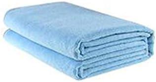 CQIANG カーウォッシュタオル、スーパー吸収剤、リントなし、厚手の大型タオル、カーラグラグ - ブルー