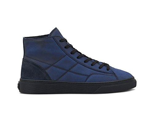 Sneakers Blu In Aumento L'uomo H340 Pelle aU1qnAwwxp