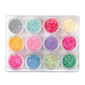 12 Colors Boxed Crushed Shell powder Nail Art Tip Decoration Generic tete-eltn-eca0575