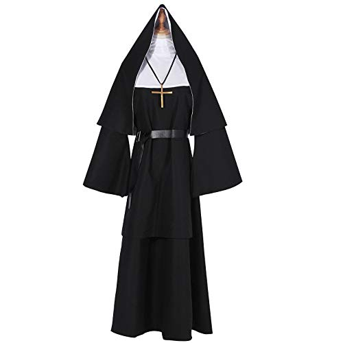YANGGO Nun Halloween Costume for Men Priest Costume Adult (M, Style-A)]()