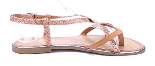 Schuhtempel24 Damen Schuhe Zehentrenner Sandalen Sandaletten Flach Camel Schuhtempel24  Damen Schuhe Zehentrenner Sandalen Sandaletten Flach Camel ... fcd33dd82d