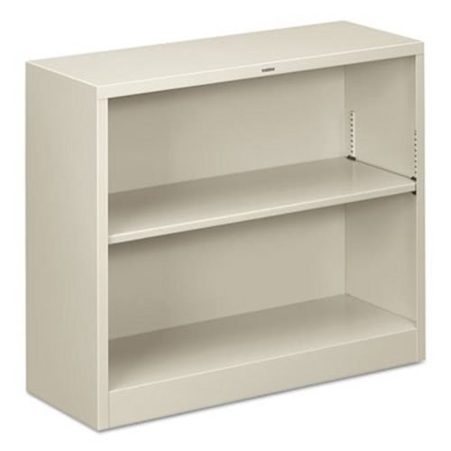 HON S30ABCQ Metal Bookcase, Two-Shelf, 34-1/2w x 12-5/8d x 29h, Light Gray (Bookcase Hon Hon Metal)