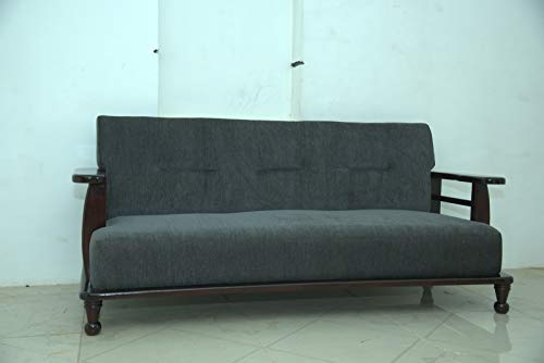DREAM WOODS Solid SHEESHAM Wood 3 Seater Sofa Set for Home and Office Decor  Honey Finish