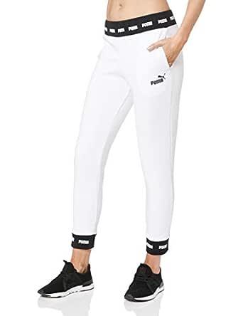 PUMA Women's Amplified Sweat Pants TR CL, Puma White, M