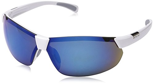 Suncloud Switchback Polarized Sunglass with Polycarbonate Lens, White Frame/Blue - Lenses White Blue Oakleys With