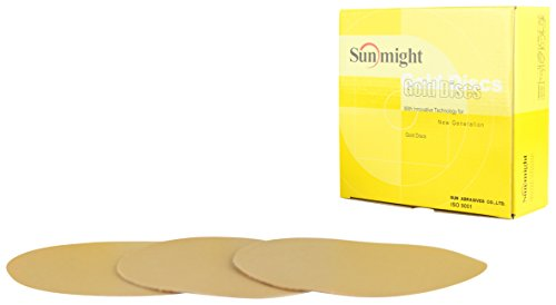Sunmight 02411 6'' No Hole Velcro Disc (Gold Grit 220) by Sunmight