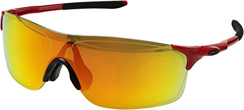 Oakley Men's Evzero Pitch (a) Non-Polarized Iridium Rectangular Sunglasses, Infrared, 38 - Sunglasses Infrared