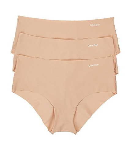 Calvin Klein Invisibles Hipster 3-Pack, S, Light Caramel