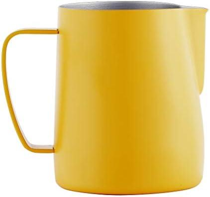 Blesiya Espressomelkopschuimkan Roestvrijstalen KoffiekanGeel