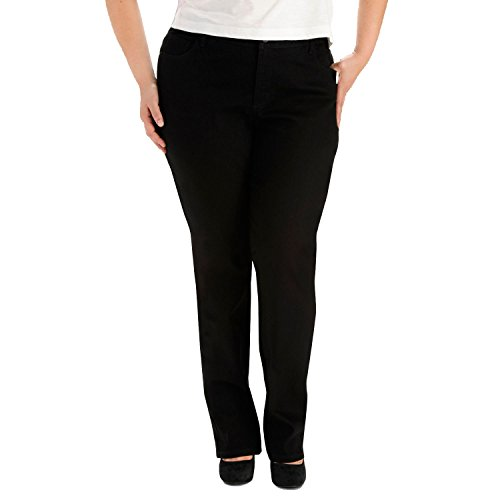 - LEE Women's Plus Size Instantly Slims Classic Relaxed Fit Monroe Straight Leg Jean, Black, 18W Petite