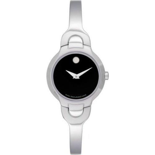 Movado 605247 mm Silver Steel Bracelet & Case Anti-Reflective Sapphire Women's Watch