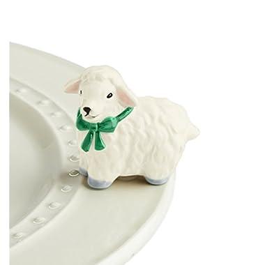 Nora Fleming Hand-Painted Mini: I Love Ewe (White Lamb) A195