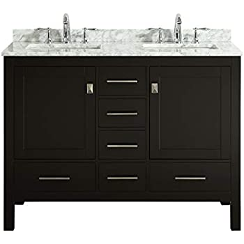 Virtu Usa Gloria 48 Inch Double Sink Bathroom Vanity Set