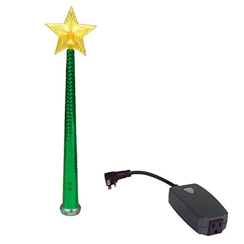 Magic Light Wand (Green - Remote Control with Enchanting Sound for Decorative Lights! Use with Christmas Trees, Princess Lamps, Night Lights, and Festive String Lights Like Flamingos & Hot Peppers! (Christmas Tree Festive)