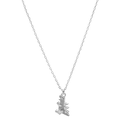 Spinningdaisy Matte Finish Baby Duck Necklace Silver