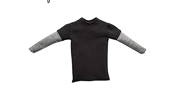 3 x 12/'/' Action Figure Outfit Cloth 1//6 Scale Black Long Sleeve T-shirt Top