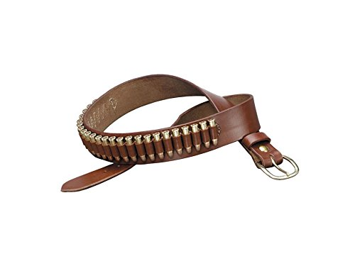(TRIPLE K 10026 100 Heavy Saddle Leather Pistol Cartridge Belt, Walnut Oil, Plain Finish)