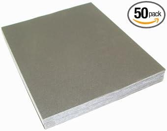 Bundle of 10 9 x 11 Aluminum Oxide Paper Sanding Sheets 100 Grit