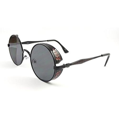 4443e8dc4b Buena Ultra Steampunk gafas de sol maravillosamente elaborados ciegos 50  gafas redondas con UV400 Protección té