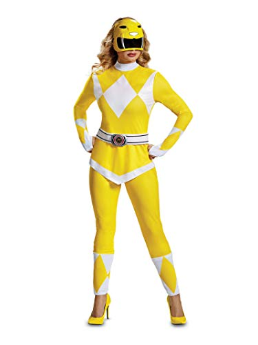 Disguise Women's Yellow Ranger Adult Costume, M ()