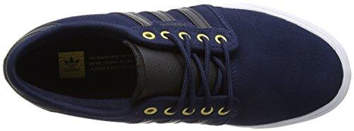 adidas Unisex Adults' Seeley Skateboard Shoes, Black Blue (Collegiate Navy/Core Black/Footwear White)