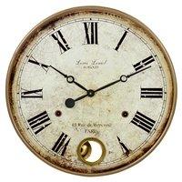 Aspire Wall Clock Raleigh Pendulum, Brown