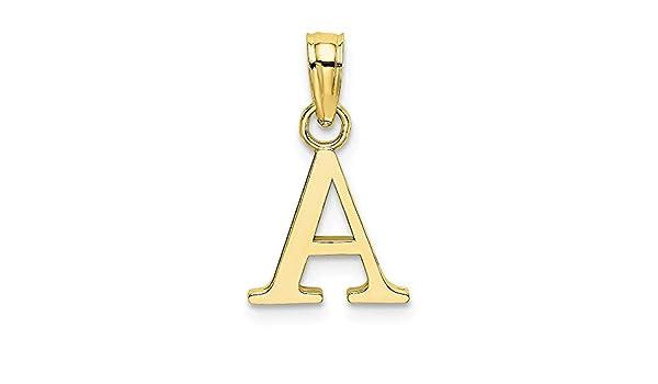 2of2 FB Jewels 14K Yellow Gold A Block Initial//High Polish