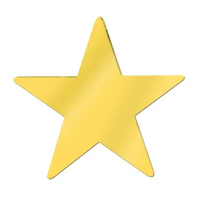 Jumbo Foil Star Cutout (gold) Party Accessory  (1 ()