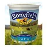 Stonyfield Farm Organic Fat Free Plain Yogurt, 32 Ounce - 6 per case.