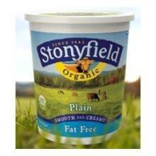 Stonyfield Farm Organic Fat Free Plain Yogurt, 32 Ounce - 6 per case. by Stonyfield Farm