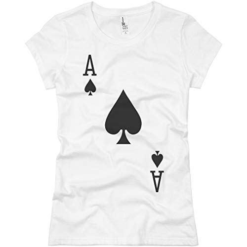 Ace of Spades Costume: Ladies Slim Fit Basic T-Shirt White]()
