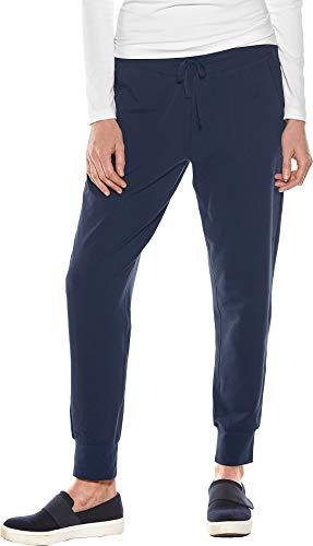 Coolibar UPF 50+ Women's Weekend Pants - Sun Protective (Medium- Navy)