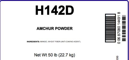 Amchur (Green Mango) Powder, 50 LB Bag