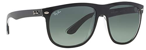 Ray-Ban RB4147 603971 Highstreet Sunglasses Black Frame / Grey Gradient Azure Lens ()