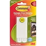 Bulk Buy: 3M (3-Pack) Command Large Picture Hanging Strips White 4 Sets/Pkg 17206WHT