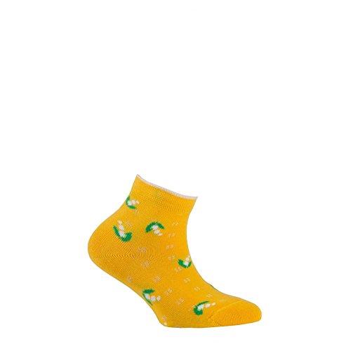 En Fleurs Achile Jaune Socquettes Coton EpZzZq