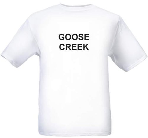 GOOSE CREEK - City-series - White Adult T-Shirt - size - Sc Sandhill
