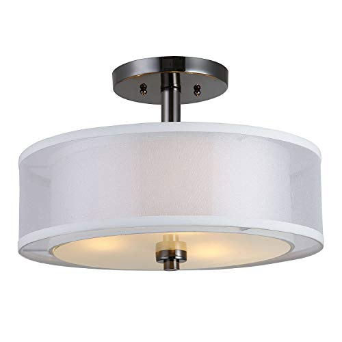 Hardware House 22-3997 El Dorado Semi Flush Mount Light Fixture ()