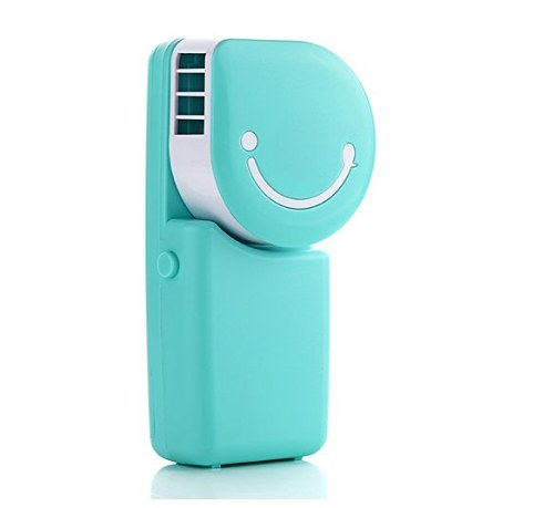 WHMING New Summer Mini Air Conditioning Personal Hand-held Cooler Fan,Runs On Batteries Or USB(Blue)