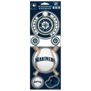 MLB Seattle Mariners Prismatic Stickers, Team Color, One Size
