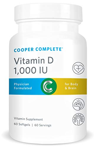 Cooper Complete - Vitamin D3 1000 IU - Easy to Digest, Increased Absorption - 60 Day Supply