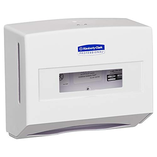 Kimberly-Clark Professional 09217 Scottfold Compact Towel Dispenser, 13 3/10 x 13 1/2 x 10, Pearl White