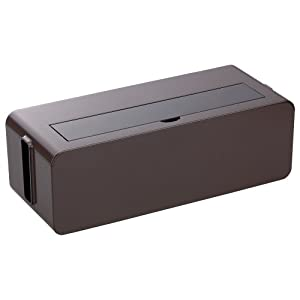 イノマタ化学 テーブルタップボックス ブラウン Lサイズ