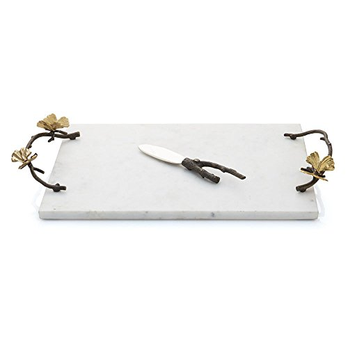 Michael Aram Butterfly Ginkgo Cheeseboard with Knife White ()