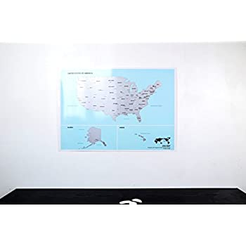 Amazoncom Scratchoff Us Map the United States of America Poster